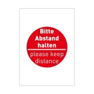 """Poster """"Mantenere le distanze"""", DIN A1"""