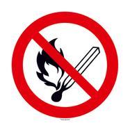 Non usare fiamme libere. Vietato fumare