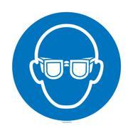 Usare gli occhiali protettivi