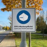 Cartello Mascherina FFP2 obbligatoria!
