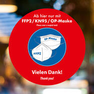 Adesivo mascherina OP / FFP2 / KN95
