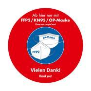 Adesivo per pavimenti esterni mascherina OP / FFP2 / KN95