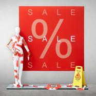 """Cornice Stretchframe - Banner """"Sale"""" incluso"""
