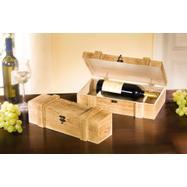"""Scatola per bottiglia di vino in legno """"Rustikal"""""""