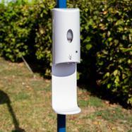 Sensor-Wall - Set di installazione per dispenser disinfettante per gazebo e tubi