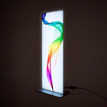 Colonna stretch in frame con LED, bifacciale