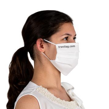 Mascherina facciale 100% tessuto non tessuto, a 2 strati