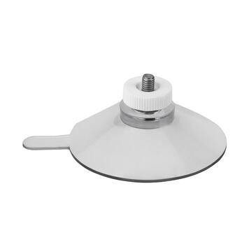 Ventosa ø 50 mm con dado zigrinato bianco