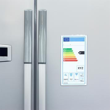 Tasca protettiva per etichetta energetica autoadesiva