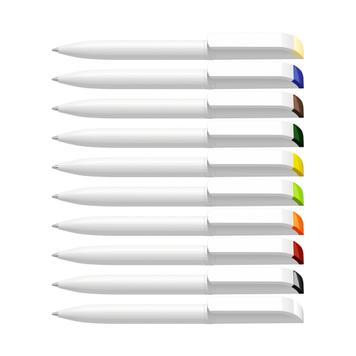 """Penna a sfera a rotazione """"Effetto green"""" bianca"""