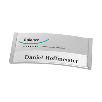 "Badge identificativo ""Balance Alu-Print"" inclusi costi accessori di stampa"