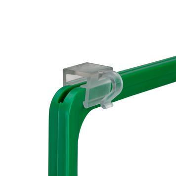 Clip a gancio per il fissaggio dall'alto su cornici: per griglie in filo metallico