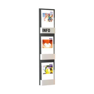 """Distributore per volantini da parete """"Edition I"""" a 3 scomparti"""