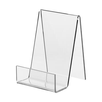 Reggilibri in vetro acrilico