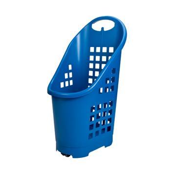 Carrello spesa Flexicart in plastica trascinabile, 64 litri