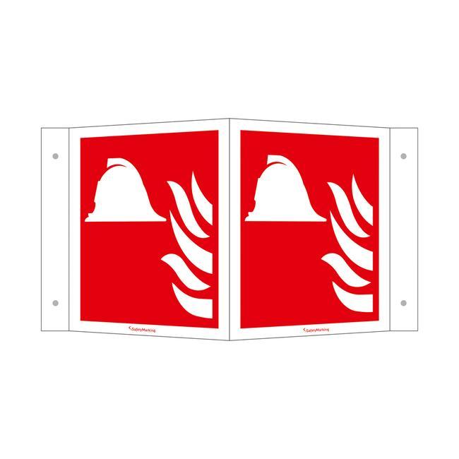 Mezzi e apparecchi per la lotta antincendio segnale angolato