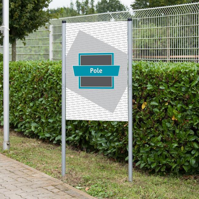 """Cornice banner a innesto in acciaio """"Pole"""""""