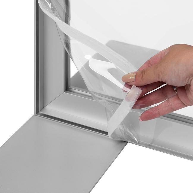 Banner trasparente con stampa 4c per stretchframe in alluminio