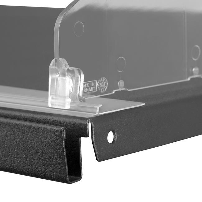 """Profilo per divisori scaffale """"PEK 30"""" con nastro adesivo o magnetico"""