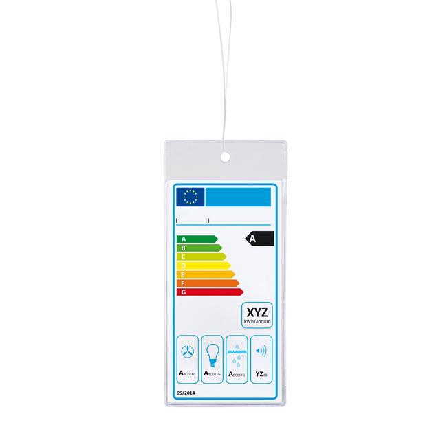 Tasca protettiva per etichetta energetica da appendere