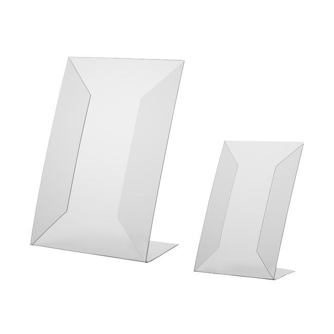 Display a L in PVC rigido, DIN A4 o A5, da usare verticalmente o orizzontalmente
