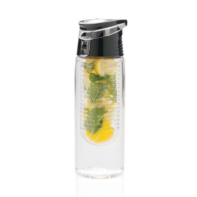Bottiglia con infusore per aromi, richiudibile