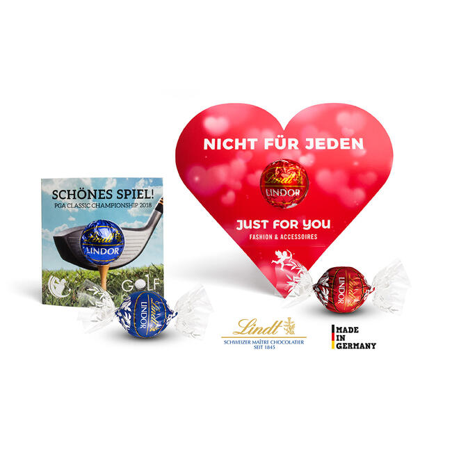 """Lindt Lindor in scatola a forma di cuore """"Herzform"""""""