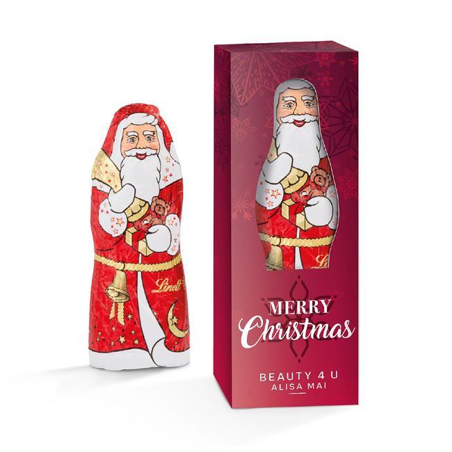 Babbo Natale Lindt in scatola promozionale stampata