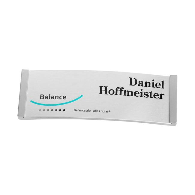 "Badge identificativi ""Balance Alu-Complete"" inclusi costi aggiuntivi di stampa"