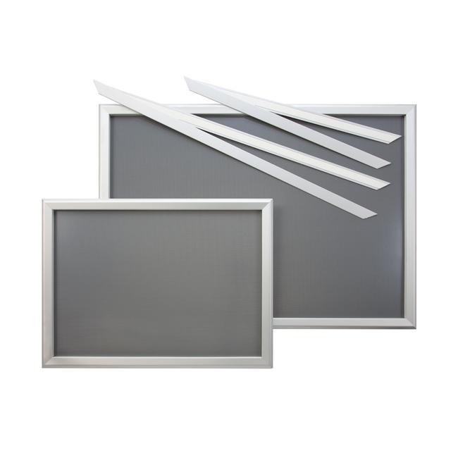 """Sistema di cornice per vetrina """"Feko"""", anodizzato argento, spigoli smussati"""