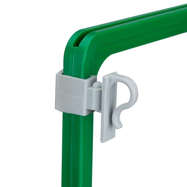 Clip a gancio per il fissaggio laterale su cornici: per griglie in filo metallico