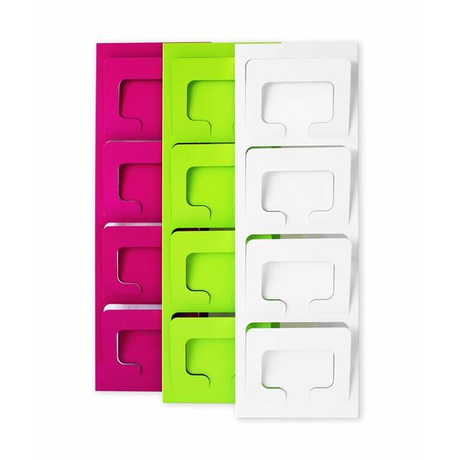 """Distributore per volantini quadruplo a parete """"Gaudy"""" in formato DIN A4 orizzontale"""