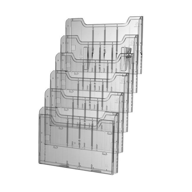 """Distributore per volantini """"Main"""" a 6 scomparti nel formato DIN A4 orizzontale"""