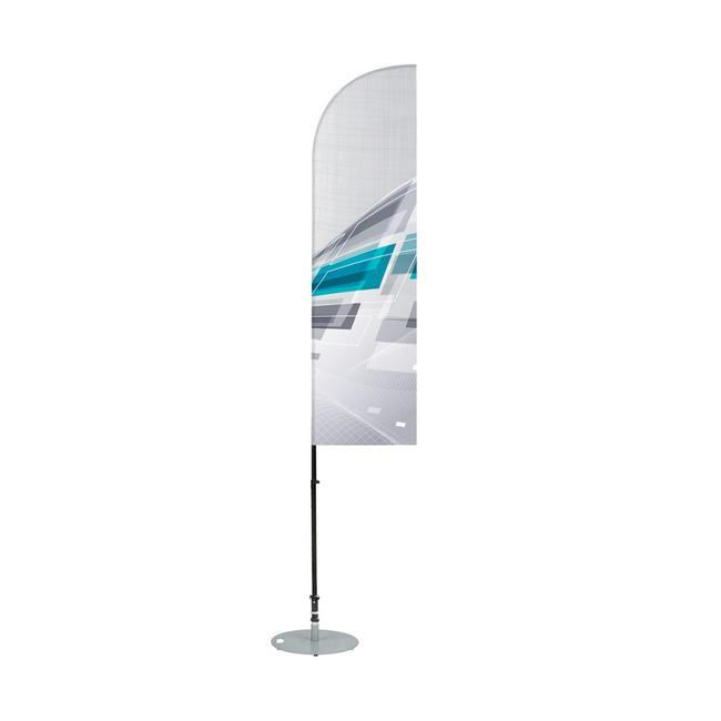 """Bandiera da spiaggia """"Pinna di squalo"""""""