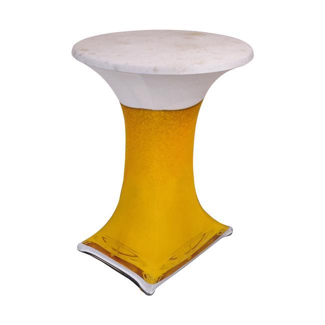 "Rivestimento per tavolino alto ""Samba"" motivo: birra"