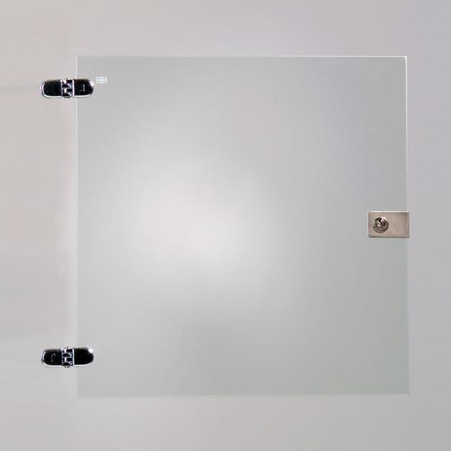 Anta in vetro per uno scomparto di vetrinetta modulare
