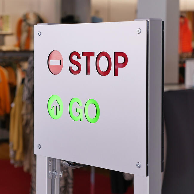"""Contapersone """"Counter"""" con semaforo di accesso"""