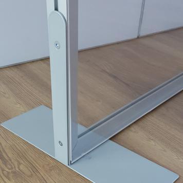 Parete divisoria in alluminio stretch in frame, incluso banner in PVC trasparente