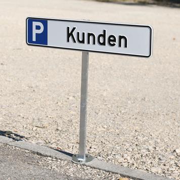 Paletto per cartello di parcheggio