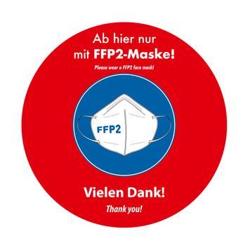"""Pellicola adesivsa per finestre """"indossa mascherina FFP2"""""""