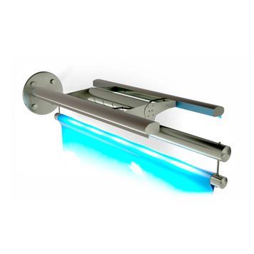 "Portabanner INOX ""braccio a luce LED"""