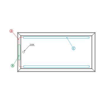 "Bannergear® Piantana ""Base in cemento LED"",2 lati"