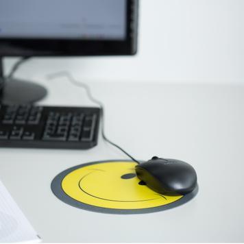 Tappetino mouse rotondo con stampa inclusa