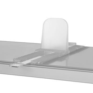 Cremagliera per sistema divisori Perfekta, larga 95 mm