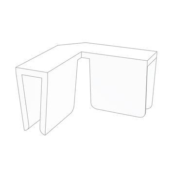 Clip angolari per divisori