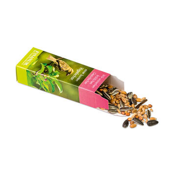 Scatola di cibo per uccelli con 20 g di gustosi cereali,