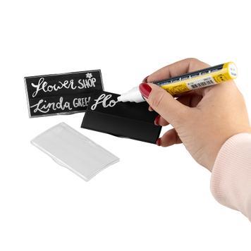 """Targhetta per il nome con carta a gesso """"Podio Paper"""""""