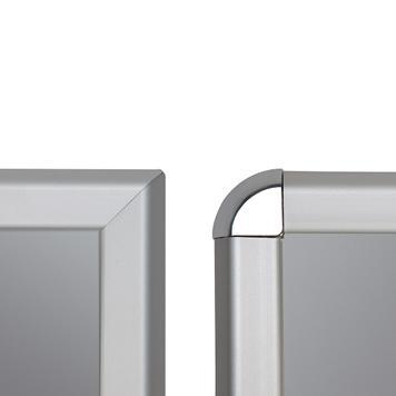Cornice a scatto, profilo da 32 mm, anodizzato argento, spigoli smussati/ arrotondati