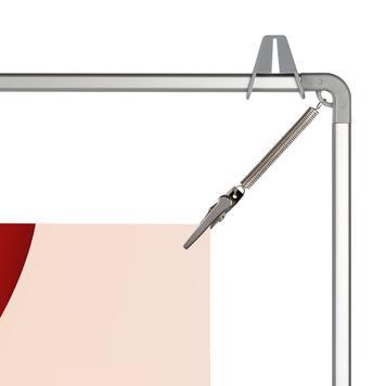 Cornice tensionante in alluminio con clip a coccodrillo