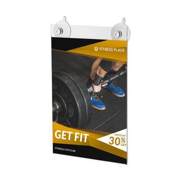 Tasca in vetro acrilico con ventose